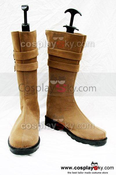 Classical Brown Flat Boots Shoes Custom-Made