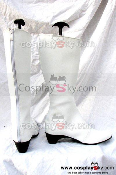 Classical White Female Boots Custom-Made