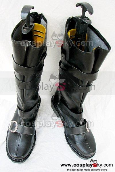 D.Gray-man Arystar Krory Cosplay Boots Black Custom Made