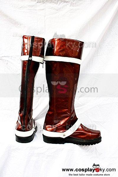 D.Gray-man Lavi.JR.Bookman Cosplay Boots Brown
