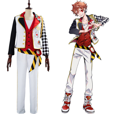 Game Twisted-Wonderland Alice in Wonderland Theme Ace Cosplay Costume Halloween Uniform Outfits