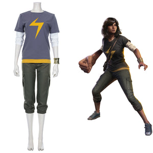 Avengers-Ms. Marvel Kamala Khan Halloween Carnival Suit Cosplay Costume Outfit