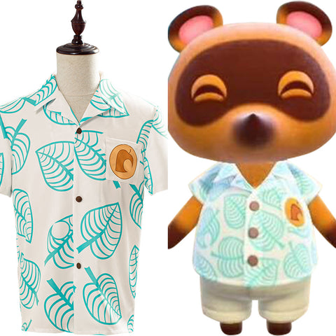Animal Crossing Shirt Tom Nook Cosplay Costume