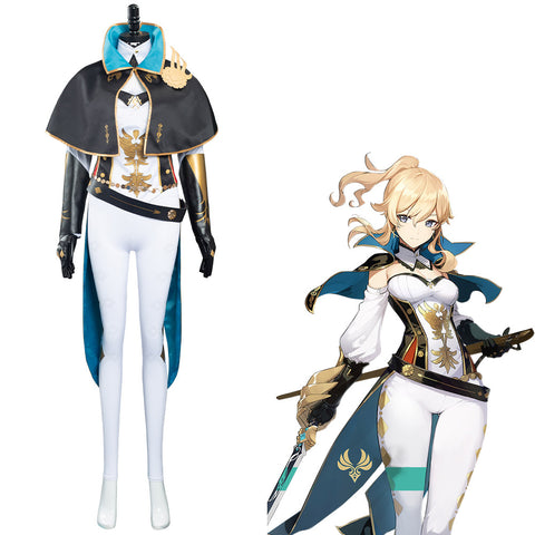 Game Genshin Impact Jean Gunnhildr Halloween Carnival Suit Cosplay Costume Outfits