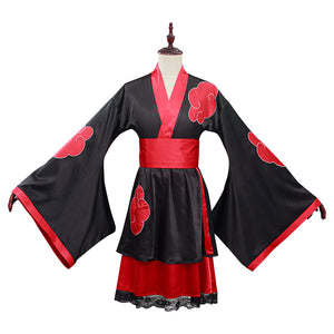 NARUTO Akatsuki Halloween Carnival Suit Cosplay Costume Kimono Dress Outfits