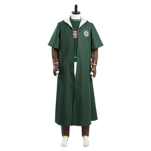 Harry Potter Slytherin Green Quidditch Halloween Carnival Suit Cosplay Costume Magic Shool Uniform Outfits