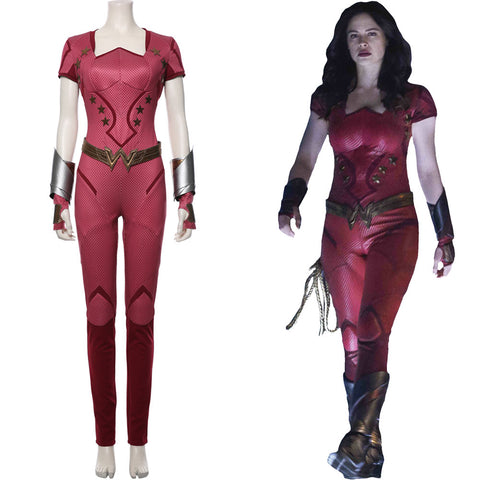 Donna Troy Titans Season 2 Jumpsuit Uniform Cosplay Costume