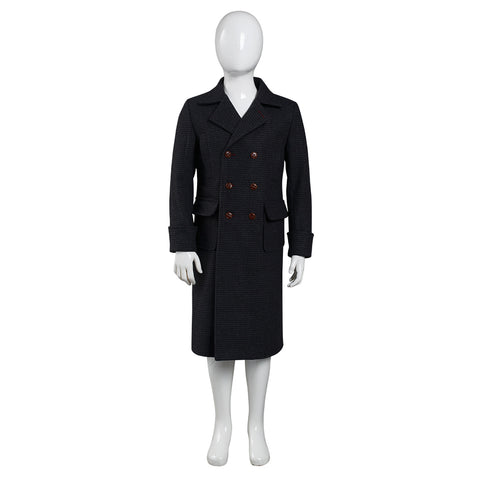 Sherlock Holmes Halloween Carnival Suit Cosplay Costume Kids Children Coat