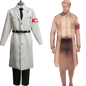 Attack on Titan Shingeki no Kyojin S4 Marley Army White Uniform Halloween Carnival Suit Cosplay Costume Outfits
