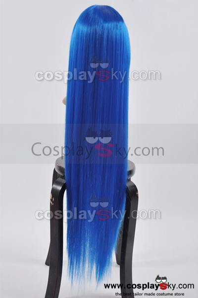 Fairy Tail Wendy Marvell Blue Cosplay Wig 100cm