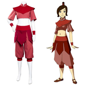 Avatar: The Last Airbender Ty Lee Halloween Carnival Suit Cosplay Costume Jumpsuit Outfits