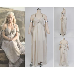 Game of Thrones Daenerys Targaryen Mother of Dragons Greek Style Dress Costume