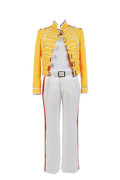 Queen Lead Vocals Freddie Mercury Yellow Jacket Costume Cosplay