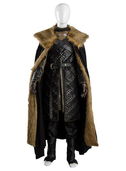 GoT 8 Game of Thrones Season 8 Jon Snow Outfit Cosplay Costume