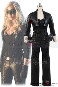 Green Arrow Black Canary Sara Lance Cosplay Costume Artificial Leather Outfit