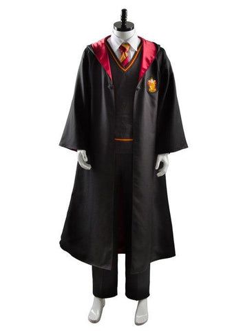 Harry Potter Gryffindor Robe Uniform Harry Potter Cosplay Costume Adults Ver.