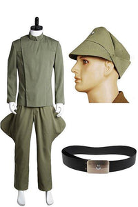 Star Wars Imperial Officer Olive Green Costume + Hat + Belt