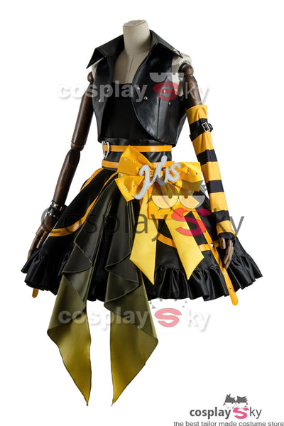 Love Live Lovelive Initial D School Idol Stage Rin Hoshizora Dress Cosplay Costume