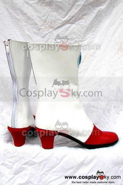 Macross 7 Mylene Jenius Cosplay Boots White