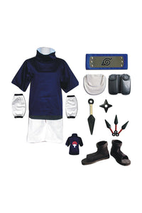 Naruto: Shippuden Sasuke Uchiha Outfit Kids Children Version Cosplay Costume