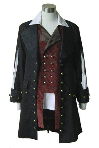 Pirates of the Caribbean Barbossa Jacket Costume Tailored