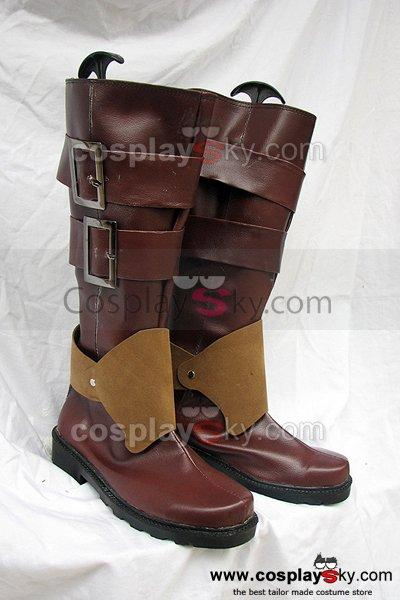 Pandora Hearts Oz Bezarius Cosplay Boots Brown