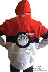 Pokemon Pokeball Ash Satoshi Logo Hoodie Jacket Cosplay Costume