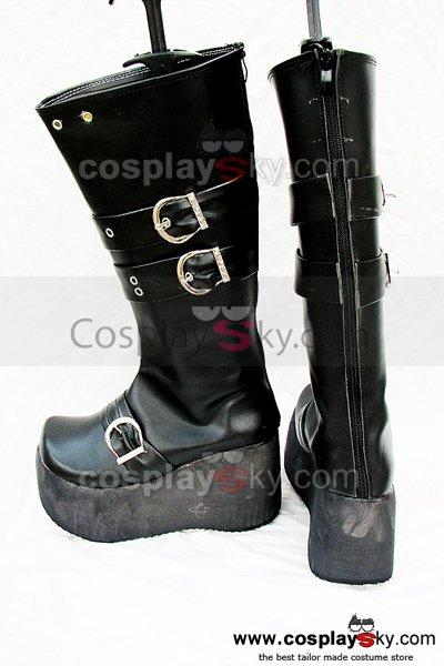 Punk Rock high-heeled heavy-bottomed Black Boots