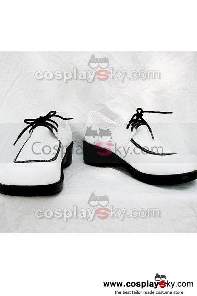 Rosario and Vampire White Cosplay Shoes Custom Made