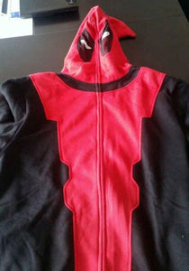 X Men Deadpool Red Black Cotton Hoodie Cosplay Costume