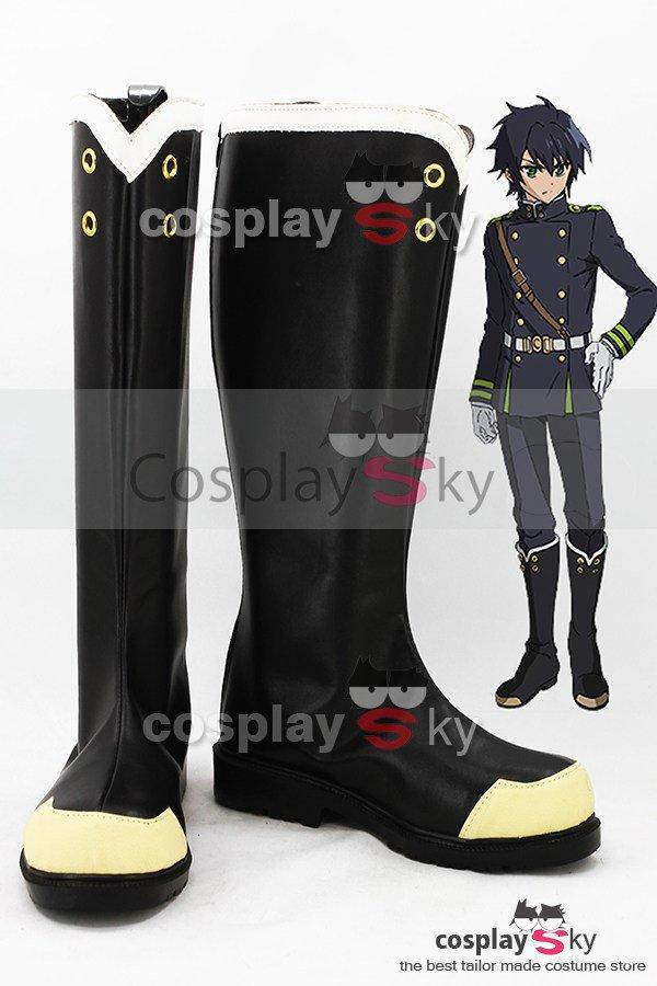Seraph of the End Yuichiro Hyakuya / Shinoa Hiragi Boots Cosplay Shoes