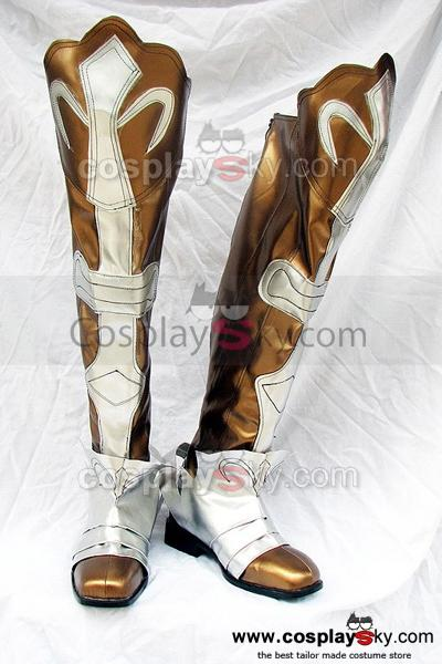 Shining Wind Kiriya Kaito Cosplay Boots Golden