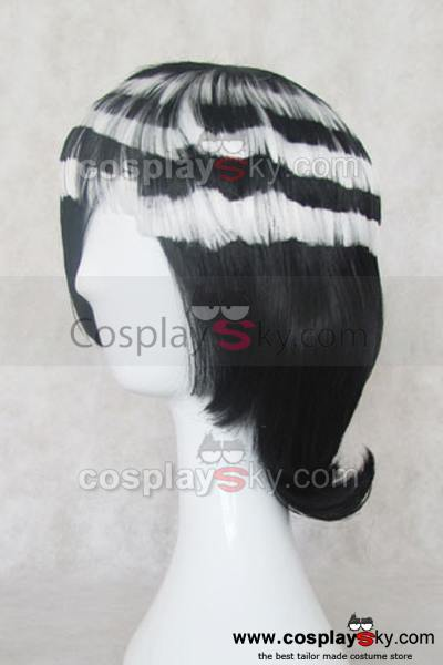 Soul Eater Death the Kid Stratified Black And White Cosplay Wig