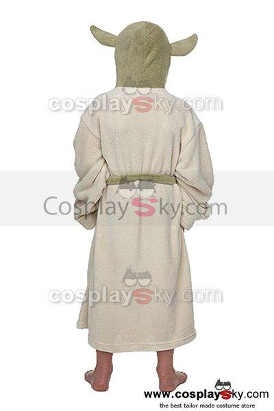 Star Wars Yoda Jedi Ears Fleece Bathrobe Kids Robe