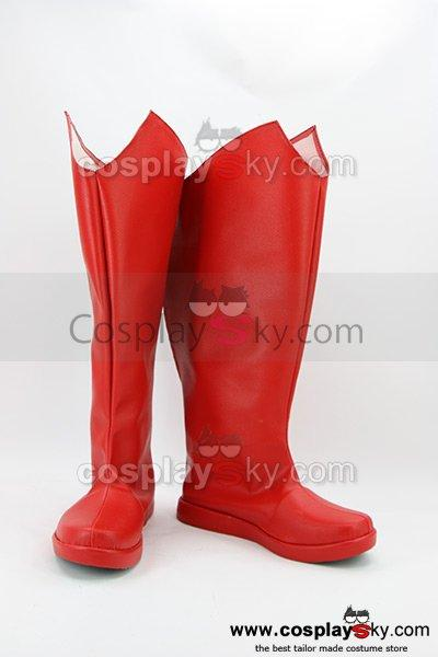 Superman Red Boots Cosplay Shoes Custom Made
