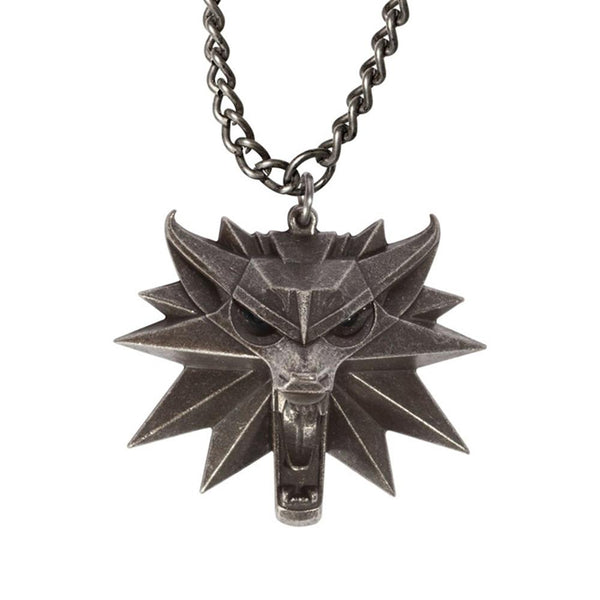 The Witcher 3:Wild Hunt Wolf Head Necklace Pendant