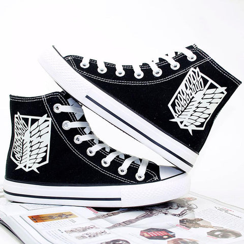 Attack on Titan Shingeki No Kyojin Wings of Liberty Canvas Shoes Sneakers Luminous Cosplay Shoes