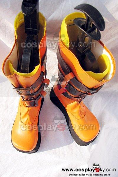 Togainu no Chi Rin Cosplay Boots Shoes Black Orange