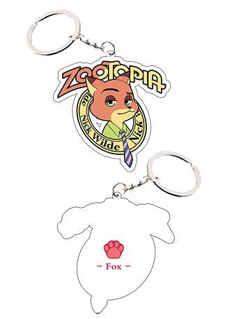 Zootopia Fox Nick Keychain Cosplay Accessories
