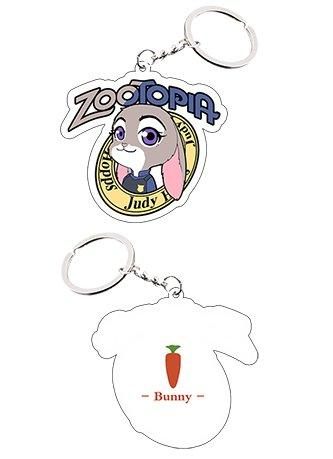 Zootopia Rabbit Judy Keychain Cosplay Accessories