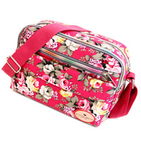 Vintage Flora Printing Women Messenger Bags Canvas Crossbody Bags Leisure Mummy Flap Bag Ladies - Bagssaccessories