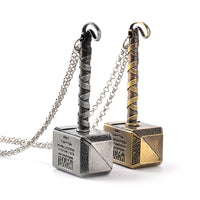 Thor Hammer Necklace Avengers Dark World Necklace Mjolnir Pendant Necklace Men - Bagssaccessories