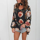 Womens Tops And Blouses Chiffon Blouse Floral Plus Size Shirt