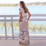 Women Bohemia Floral Print Summer Dress 2018