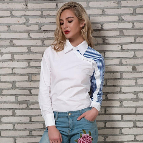Striped Shirt Women 2018 Spring New Arrivals Fashion Long Sleeve Blouses