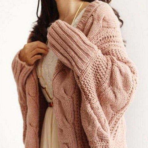 Autumn Winter Beautiful Knitted Cardigans Fashion Long Sleeve Batwing Poncho Sweater