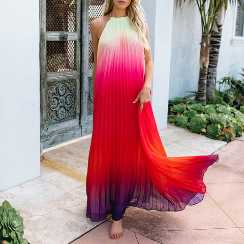 2018 Women Long Dresses Fashion  Summer Beach Maxi Dress
