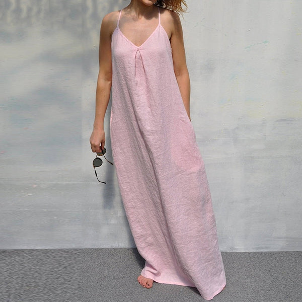 Women Dress 2018 Plus Size Summer Casual Loose Long Maxi Dresses
