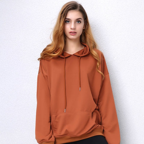 Hoodies Women Long Sleeve Camel hooded Sweatshirt