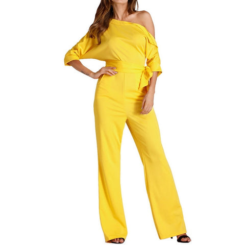 Jumpsuits Romper Women Overall Sexy One Shoulder bodycon tunic Jumpsuit